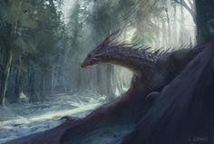 Dragon of Arogarth Forest, Lucas Staniec on ArtStation at…