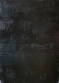 "Koen Lybaert; Oil 2014 Painting ""abstract N° 783 [Coal dust VIII]"""