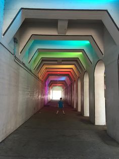 Lightrails Rainbow Tunnel under the viaduct in Birmingham Stuff To Do, Things To Do, Three Day Weekend, Birmingham Alabama, Sweet Home Alabama, Great Vacations, Like A Local, Road Trip Usa, Road Trippin