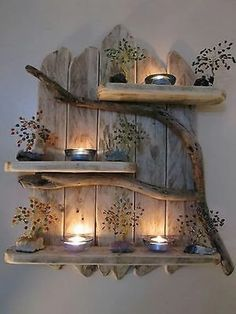 DIY Home Decor 697002479803680157 - Charming Natural Genuine Driftwood Shelves Solid Rustic Shabby Chic Nautical. in Home, Furniture & DIY, Furniture, Bookcases, Shelving & Storage Retro Home Decor, Easy Home Decor, Cheap Home Decor, Nature Home Decor, Diy Decorations For Home, Wood Decorations, Diy Crafts For Home Decor, Trendy Home Decor, Decor Diy