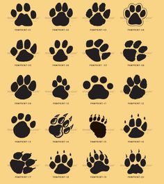 Paws Tattoo Designs for Women | , kids, and everybody. Paw print clip art can be used for cat paw ...