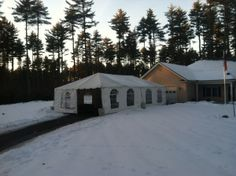 20x40 Frame Tent we install in the dead of winter for Homes For Our Troops