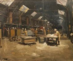 The Bakeries, Dieppe (Sir John Lavery, R.A. - No dates listed)