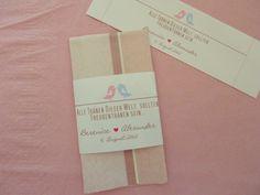 Gastgeschenke -  Taschentücher für Freudentränen*    Macht Eueren Gästen eine kleine Freude und legt die Taschentücher im Standesamt oder in der Kirch