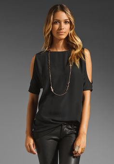 BB DAKOTA Hugo Opaque CDC Cutout Shoulder Tunic in Black at Revolve Clothing - Free Shipping!