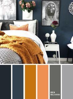 10 Best Color Schemes for Your Bedroom { Navy Blue Dark Grey Golden Wheat } bedroom color ideas &; 10 Best Color Schemes for Your Bedroom { Navy Blue Dark Grey Golden Wheat } bedroom color ideas &; Bedroom Colour Palette, Bedroom Colors, Palette Bed, Home Bedroom, Bedroom Decor, Bedroom Ideas, Bedroom Closets, Bedroom Boys, Modern Bedroom