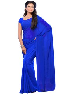 Awesome Blue Jacquard Saree