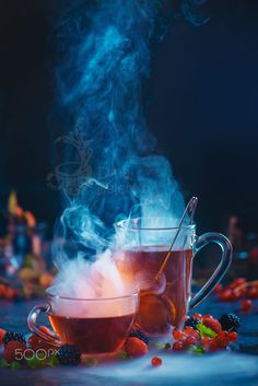Berry tea for two by Dina Belenko on Dark Food Photography, Coffee Photography, Life Photography, Tea Recipes, Gourmet Recipes, Tea Restaurant, Dragon Tea, Tea Art, Afternoon Tea