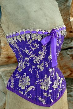 Purple steampunk  steampunk Corset