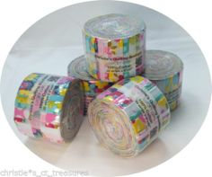 """20 2.5"""" Sis Boom Lucky Girl JELLY Roll 2.5"""" Strips PATCHWORK QUILTING Fabric"""