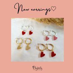 Hartjes oorbellen, goud of zilver Bracelets, Jewelry, Ear Piercings, Jewlery, Jewerly, Schmuck, Jewels, Jewelery, Bracelet