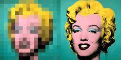 Marylin e a Pixelated one. 1962. Acrílico e tinta para serigrafia sobre linho. Andy Warhol (Pittsburgh, PA, USA, 06/08/1928 - 22/02/1987, Nova York, NY, USA).   Fotografia: ThePixelsFactory.