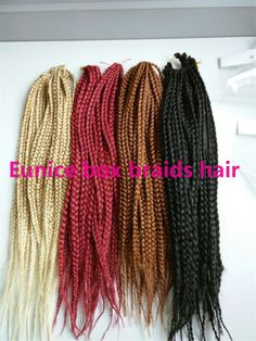 24 Crochet Braid Hair 3X Box Braid Senegalese Twist Hair Crochet ...