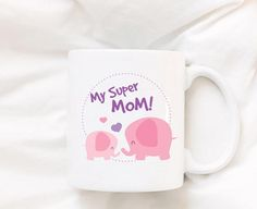 Coffee Mug Elephant Mug Cute Mug Animal Coffee Mug Tea