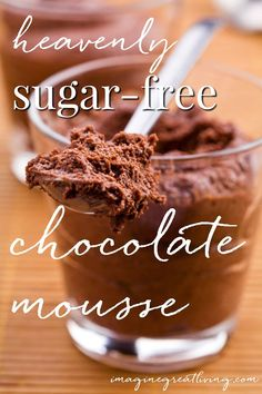Heavenly sugar-free ricotta chocolate mousse