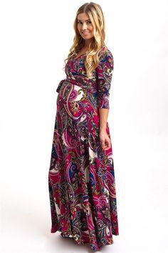 Bohemian Draped Maternity Maxi Dresses | Jane
