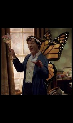"""Like a fairy!"" Sherlock fandom has truly gone mad from the waiting. <-- In our defense, that line was kind of asking for it. Now that I'm looking at it, I'm actually surprised this picture didn't happen long ago."
