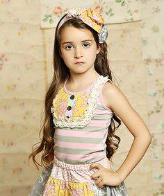 Look at this #zulilyfind! Sunny Sweet Pink Harper Tank - Infant, Toddler & Girls #zulilyfinds
