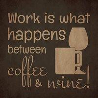Framed Wine and Coffee Sayings I