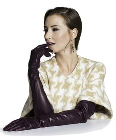 Italian Silk Lined Opera Leather Gloves - 16-Button Length by Fratelli Orsini at www.leatherglovesonline.com