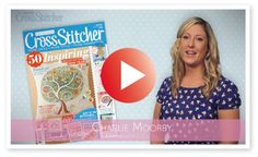 CrossStitcher 261 January issue - video from the editor #crossstitch #stitch #craft #handmade #magazine #editor #video #free #embroidery #ideas