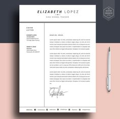 Contemporary Resume Templates Inspiration Modern Resume Template And Cover Letter Template For Word  Diy .
