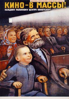 Viktor Govorkov, «Cinema—to the masses!», 1946 #Soviet