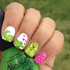 Fashion girls, if you want to go cutesy, try out these 50 cute animal nails. Crazy Nails, Love Nails, Fun Nails, Gorgeous Nails, Pretty Nails, Animal Nail Art, Valentine Nail Art, Cute Nail Art Designs, Nails For Kids