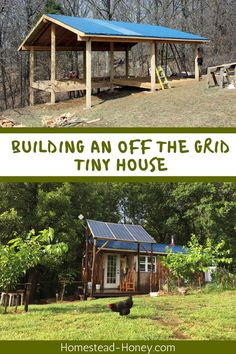 Interested in building an off the grid tiny house? From construction to off the grid systems like water catchment and solar electricity, this resource guide features all of our tiny house building articles! Off Grid Survival, Survival Shelter, Off Grid Homestead, Homestead Living, Building A Tiny House, Tiny House Plans, Water Catchment, Forest Cottage, Homestead Survival