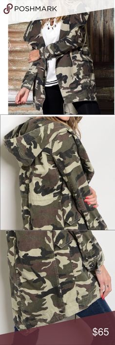 Wild Fashion Mode Military Camouflage Assassin Capuche Long Veste Street Army