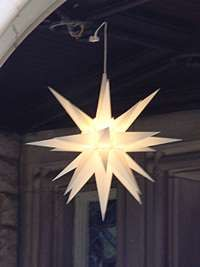 Moravian Advent Star at Old Salem in Winston-Salem, NC.  Cookies from here are wonderful!