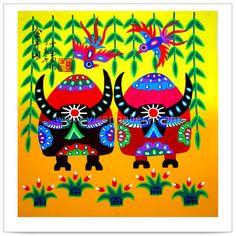 Chinese Folk Paintings, Chinese Folk Art, Folk Painting, Farmers Paintings, Farmer Painting, Farmer Paintings, Peasants Paintings, Peasant Painting Photo...