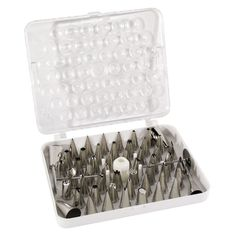 Ateco 783 55-Piece Stainless Steel Pastry Tube Decorating Set (August Thomsen)=great tools for slip trail design !