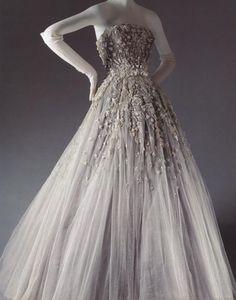 "1954 Christian Dior ""Chambord"" ca. 1954 via The Costume Institute of the Metropolitan Museum of Art"