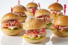 Mini Club Sandwiches - Celebrations at Home