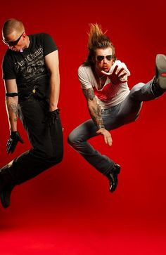 Eagles of Death Metal. Jesse Hughes and Josh Homme.