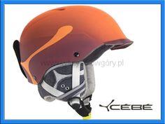 Cébé Contest Visor Pro kask na narty snowboard pomarańczowy
