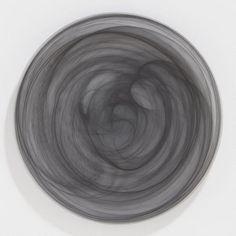 Medium Matte Gray Alabaster Platter