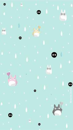 Mint Totoro iPhone background