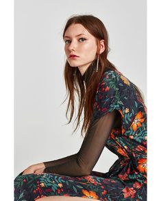 Image 2 of PRINTED MIDI DRESS from Zara Zara Outfit, Dress Collection, Sari, Prints, Outfits, Image, Dresses, Design, Fashion