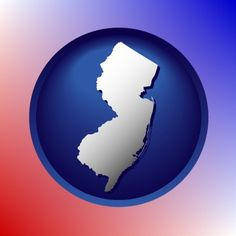 Stunning New Jersey map icon.