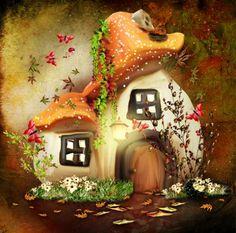 LIFE MAGIC BOX Backdrops Background Mushroom House Cm15-S-473  #Affiliate