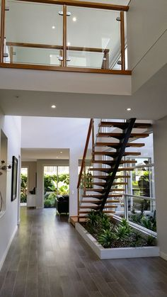 Modern Staircase Design Ideas - Surf images of modern stairs as well as find design as well as layout ideas to influence your own modern staircase remodel, consisting of special railings as well as storage . Home Interior Design, House Design, Staircase Decor, House, Stairs Design Modern, Modern Stairs, House Stairs, Home Stairs Design, Modern Staircase
