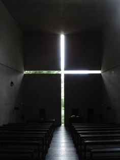 Built by Tadao Ando in Ibaraki-shi, Japan with date Images by Antje Verena. In the small town of Ibaraki, outside of Osaka, Japan, stands one of Tadao Ando's… Architecture Design, Religious Architecture, Church Architecture, Japanese Architecture, Light Architecture, Amazing Architecture, Contemporary Architecture, Installation Architecture, Tadao Ando
