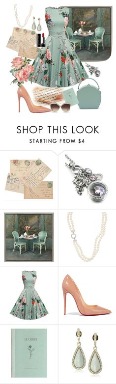 """""""Mimi thoughts.."""" by csfshawn ❤ liked on Polyvore featuring Green Leaf Art, Christian Louboutin, Karen Kane and Linda Farrow"""