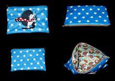 pochette sac originale brodée hérisson ( personnalisable ) de la boutique babanou84 sur Etsy