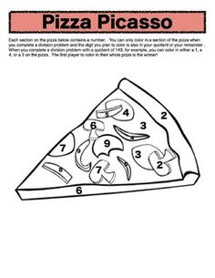 Pizza Picasso: a long division game