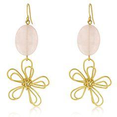 Floral Motif Matte Gold Earrings    #GoldEarring