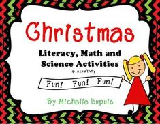Get ready for december with this 100 page Christmas unit filled with Literacy, Math, Science, Craftivity and much more!