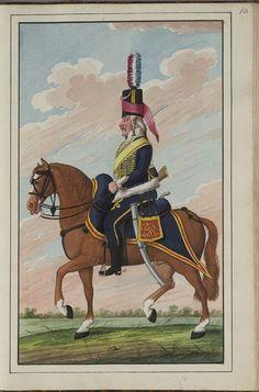 Batavia(Dutch); Hussar Regiment, c.1802 Military Modelling, Army Uniform, French Revolution, Napoleonic Wars, Military Art, Netherlands, Dutch, Badge, British